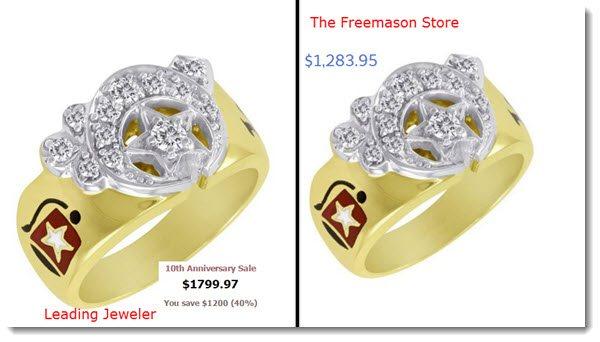 The FreeMason Store Price Comparison