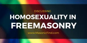 Homosexuality In Freemasonry