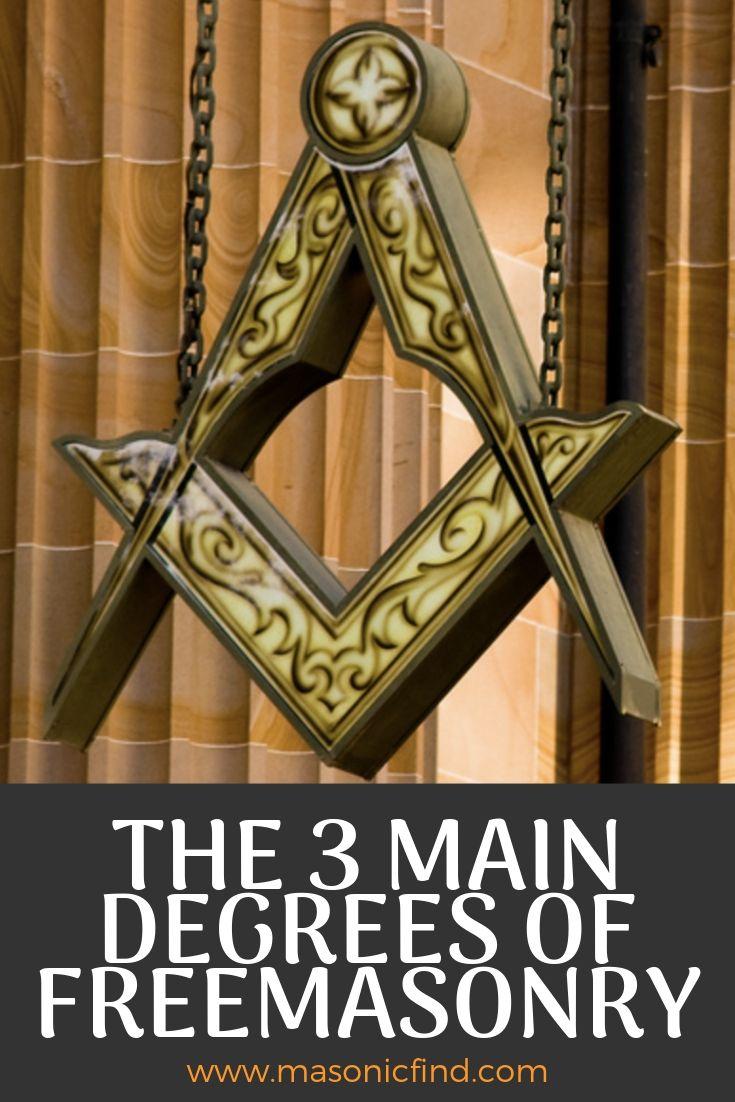 the 3 main degrees of freemasonry