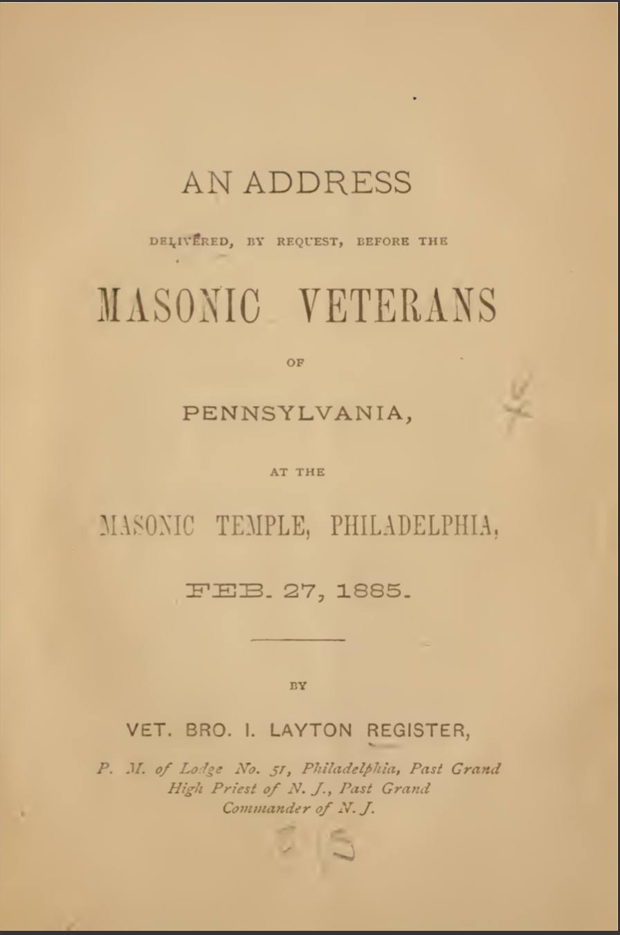 Address To The Veterans of Pennsylvania - I Register - 1885.pdf (page 1 of 35) 2019-01-26 07-14-27