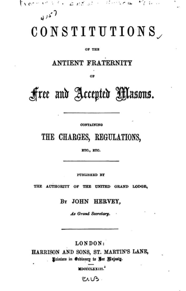 Constitutions of The Ancient Fraternity of F and Am - J Hervey - 1873.pdf (page 1 of 184) 2019-01-26 07-21-20