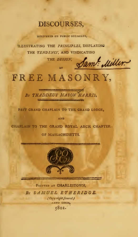 Discourses On Freemasonry - T Harris - 1801.pdf (page 2 of 346) 2019-01-26 07-22-33