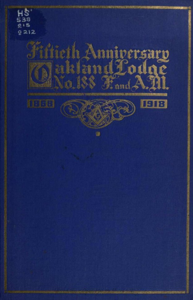 Fiftieth Anniversary - Oakland Lodge - 1918.pdf (page 1 of 44) 2019-01-26 07-23-01