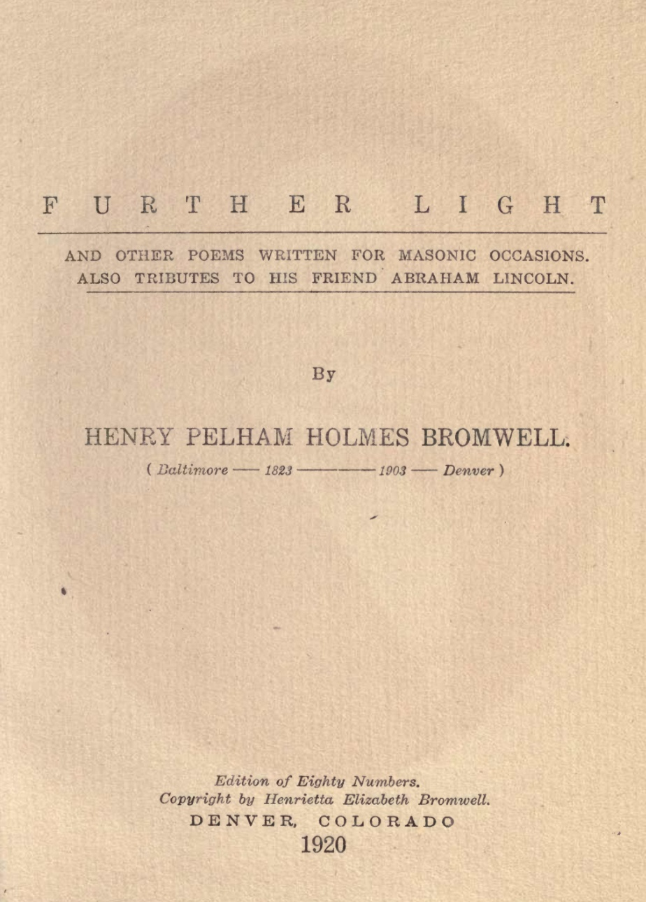 Fur Ther Light - Poems For Masonic Occassions - H Bromwell - 1920.pdf (page 1 of 64) 2019-01-26 07-24-54