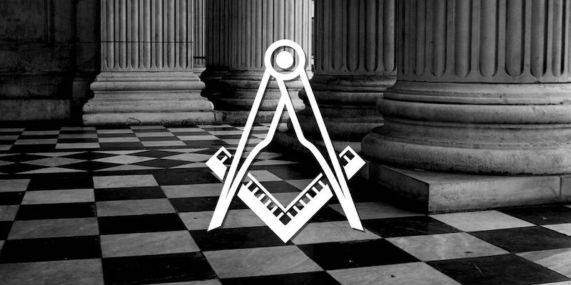 the checkered tile in Freemasonry